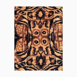 Rosa Tiger Teppich mit schwarzem Tigerfell von Zeki Muran, Türkei, 1950er