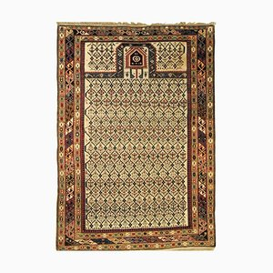 White Background and Diamond Pattern Rug, 1890s