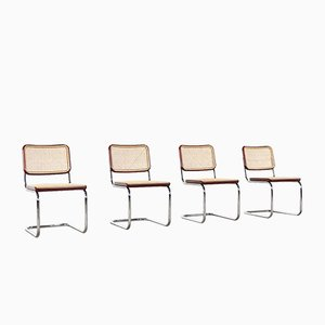 S32 Modell 90 Stühle von Marcel Breuer für Thonet, 4er Set