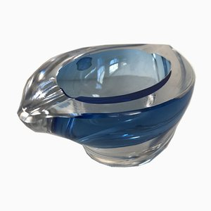 Blue Ashtray from Val St Lambert