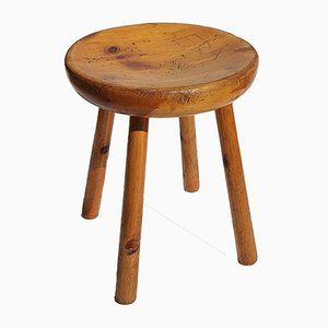 French Pine Stool by Charlotte Perriand for Les Arcs Resort, 1960s