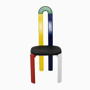 Schweizer Stuhl mit Hoher Rückenlehne von Bruno Rey für Dietiker, 1970er