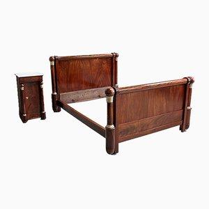 19th Century Empire Style Mahogany Bed