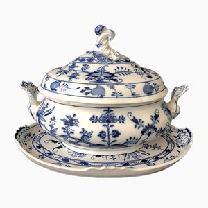 Meissen Porcelain Tureen & Tray, 1890, Set of 2