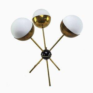 Sputnik Dreibein Tischlampe von Stilnovo, 1950er