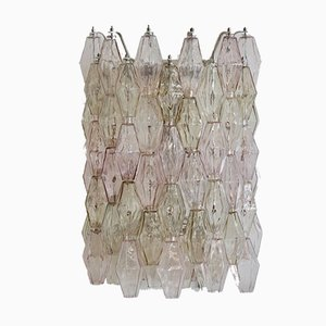 Große Glas Poliedri Wandlampe von Venini, 1960er