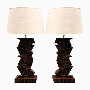 Geometrische Lampen, 1970er, 2er Set