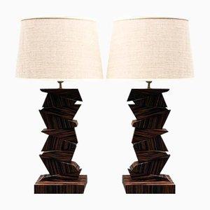 Lámparas geométricas, años 70. Juego de 2