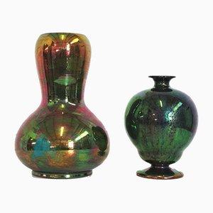 Ceramic Vases by Riccardo Gatti Faenza, 1940s, Set of 2