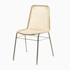 Industrial Metal Chair with Woven Plastic Seat from Kovona, 1970s