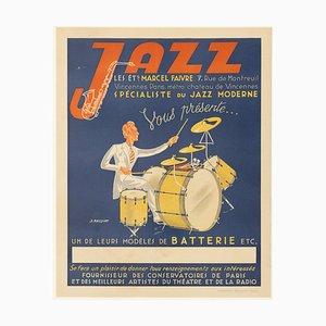 Poster pubblicitario vintage di Jazz