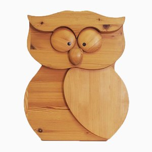 Wood Carving Owl, 1980s