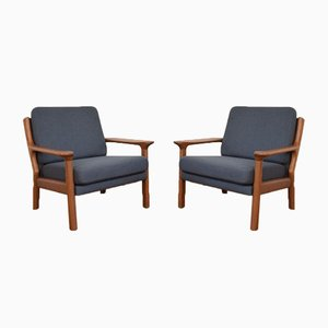 Danish Teak Armchairs from Juul Kristensen, 1960s, Set of 2