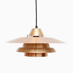 Danish Copper Pendant Lamp, 1970s