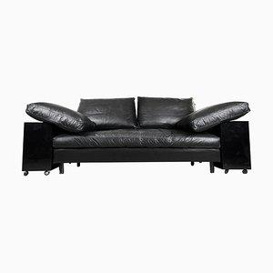 Italienisches Vintage Lota Lota Sofa aus Lackiertem Leder von Eileen Gray