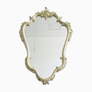 Baroque Style White & Green Florentine Mirror