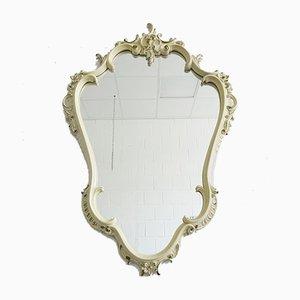 Miroir Florentin Style Baroque Blanc et Vert
