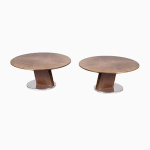 Vintage Side Tables, Set of 2