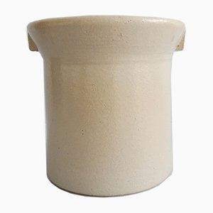 Large Gray Earthenware Pot
