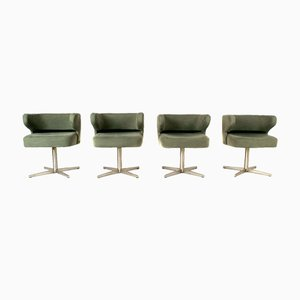 Italian Poney Swivel Chairs by Gianni Moscatelli for Formanova, 1970s, Set of 4