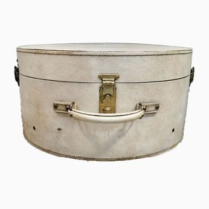Vintage Round Vellum Hat Box