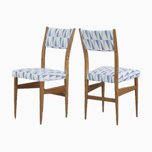 Italienische Ahorn Stühle von Gio Ponti, 1950er, 2er Set