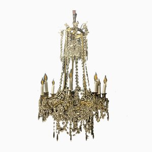 Bronze and Crystal Baccarat Chandelier
