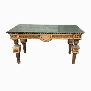 18th Century Golden Wood Console Table