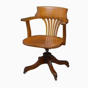 Chaise de Bureau en Chêne, 1900s