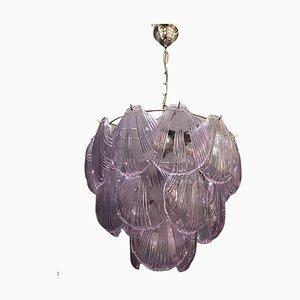 Mid-Century Lavender Shell Chandelier