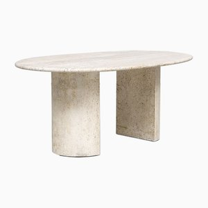 Italian Sculptural Travertine Dolmen Dining Table from Cappellini, 1970s