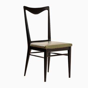 Italienische Stühle aus Geschwärztem Holz, 1960er, 6er Set