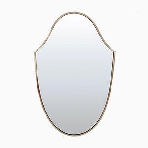 Italienischer Spiegel mit Messingrahmen von Gio Ponti, 1950er