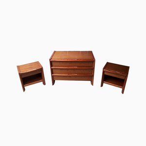 Commode and Nightstands, 1980s, Set of 3