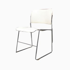 Mid-Century Modern 40\4 White Chairs by David Rowland for Gf Furniture, 1963, Set of 3