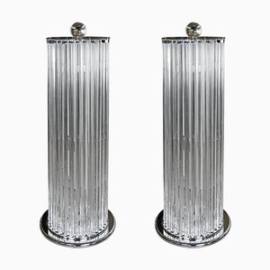 Venini Style Murano Floor Lamps, 1990s, Set of 2