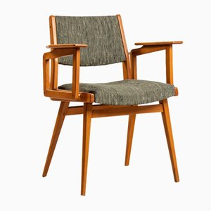 Side Chair by Robert Debieve for Wood Béarnais, 1955, Set of 2