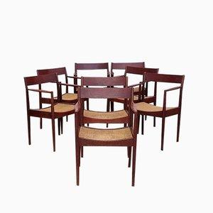Skandinavische Mid-Century Esszimmerstühle von Stol Kamnik, 1970er, 9er Set