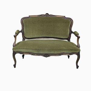 20th Century Louis XV Style Walnut Bench