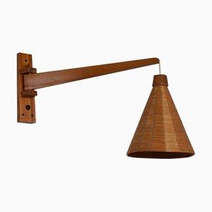 Lampada da parete in legno di Úluv, anni '60