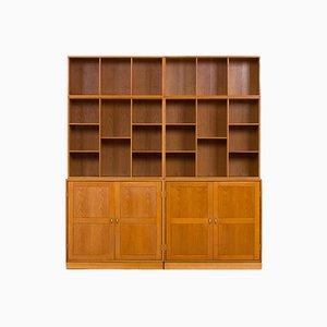 Modular Oak Wall Unit by Christian Hvidt for Søborg Furniture