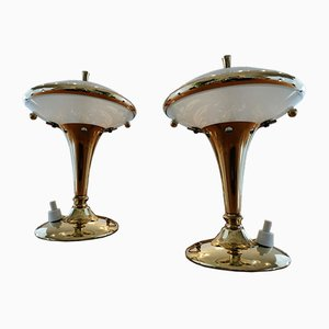 Pietro Tischlampen im Chiesa Stil von Fontana Arte, 1930er, 2er Set
