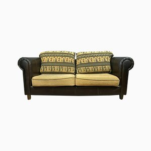 Egyptian Tapestry & Leather Club Seat