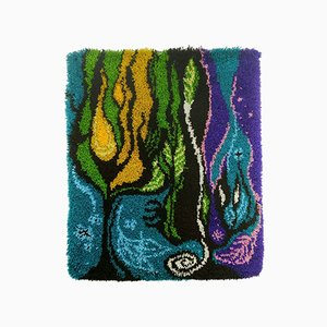 Vintage Psychedelic Tapestry Carpet, 1970s