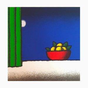Tino Stefanoni, Vase on Oranges, Colored Screenprint