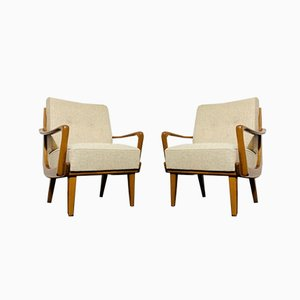 Mid-Century Beechwood Lounge Chairs, 1950s , Set of 2