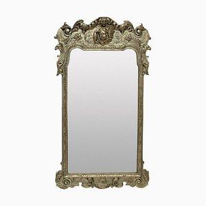 Versilberter Spiegel im Queen Anne Stil, 1930er