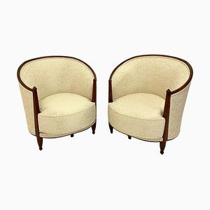 French Art Deco Bergèren Armchair, 1925, Set of 2