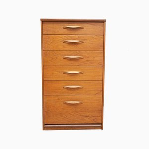 Austinsuite Vintage Teak Tallboy Chest of Drawers