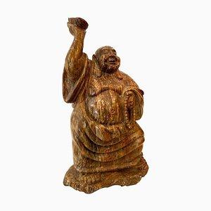 Scultura antica raffigurante Buddha in marmo, Cina, inizio XX secolo